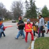 IWTSM 2007 School Patrols crossing street 1 (fall) - Stevenson School