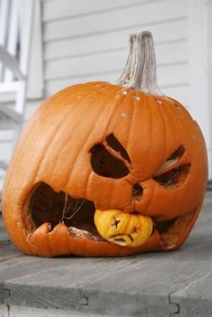 Composting - pumpkin