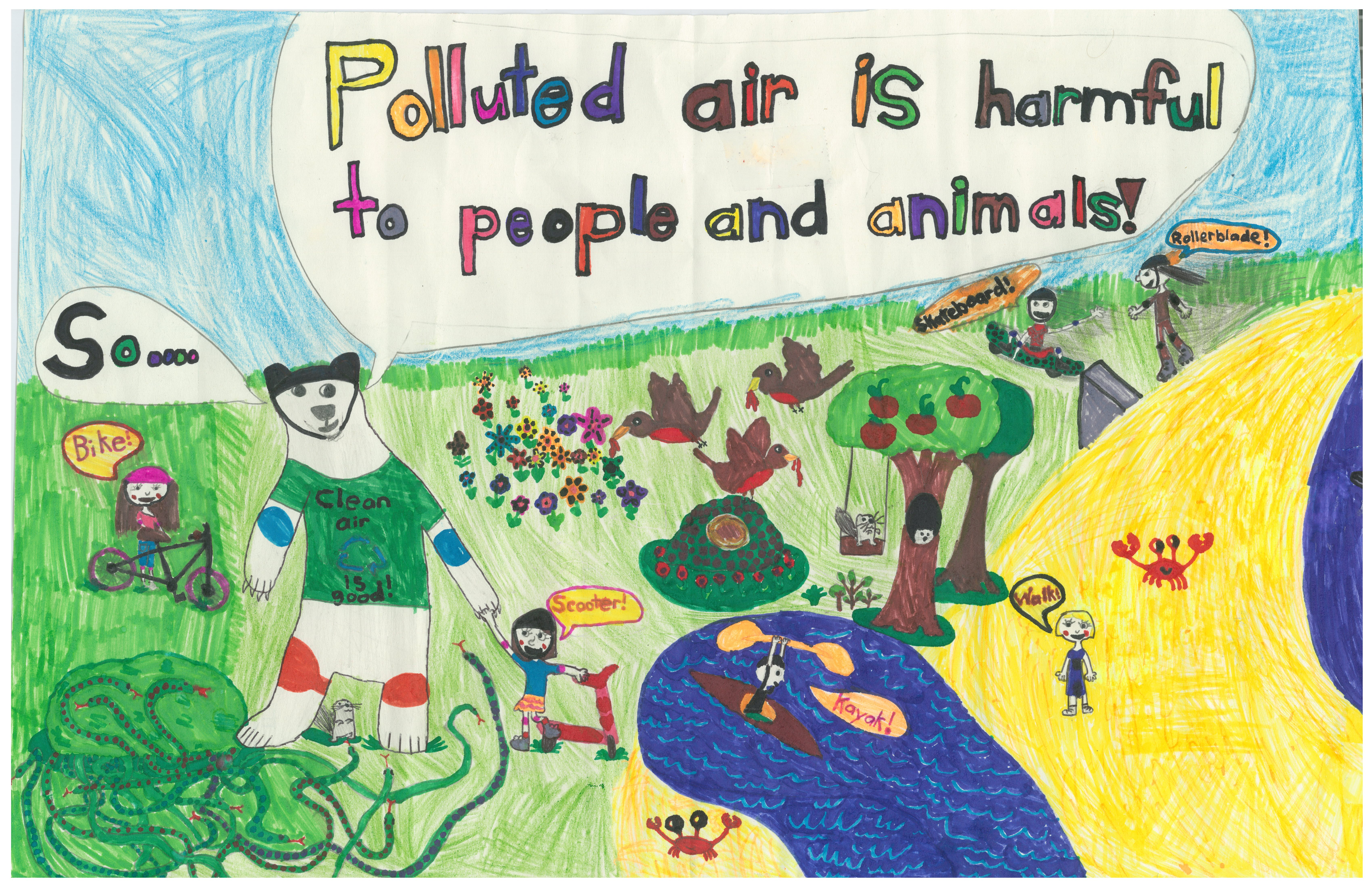Bike And Walk To School Poster Contest Green Action Centre