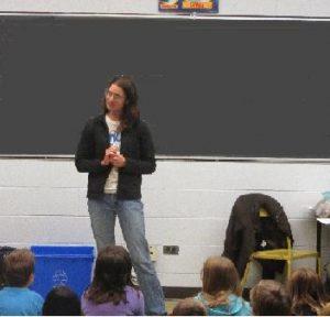 Composting - Sylvie presenting