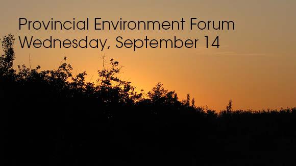 Provincial environment forum