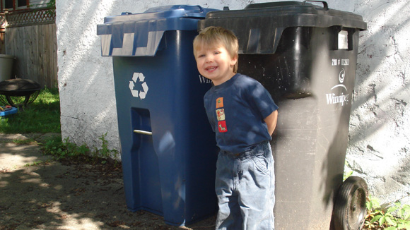 New uses for garbage cans and blue boxes