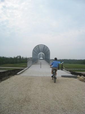 Biking from Birds Hill Park