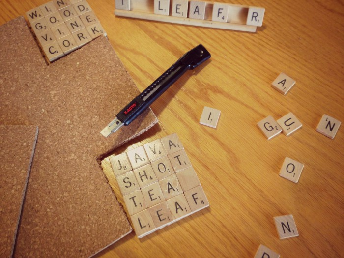 Scrabble your coasters