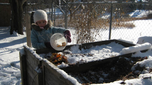 Winter composting – To layer or not to layer?
