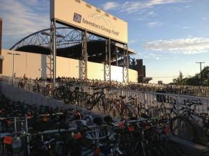 Stadium & bike parking (Janice Lukes)