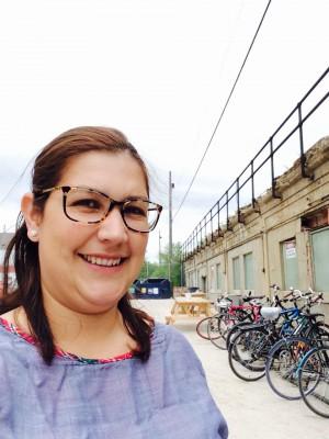 Erika Frey-Outside Social Enterprise Centre next to our bike parking area