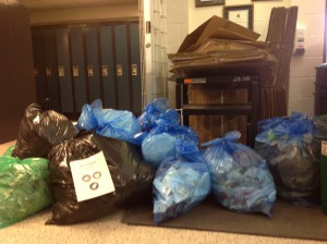 Waste Audit at Ryerson School 2015 - garbage and recycling