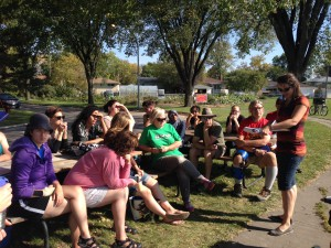 outdoor sesion on volunteer expectations