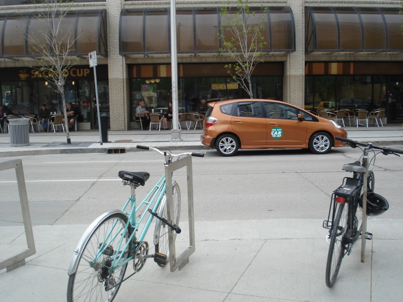 WCO - carshare, Peg City vehicle at cc 2013 launch