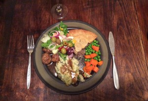 plate of food - Christmas meal (Sylvie) - resized
