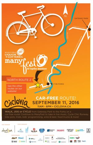 Ciclovia Poster North Route - 2 2016