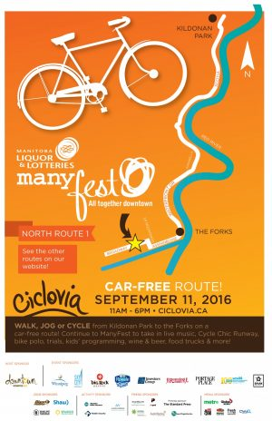 Ciclovia Poster North Route 2016