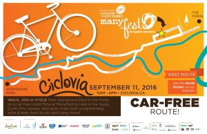 Ciclovia Poster West Route - 2016