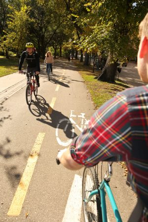 Multiple users on cycle track