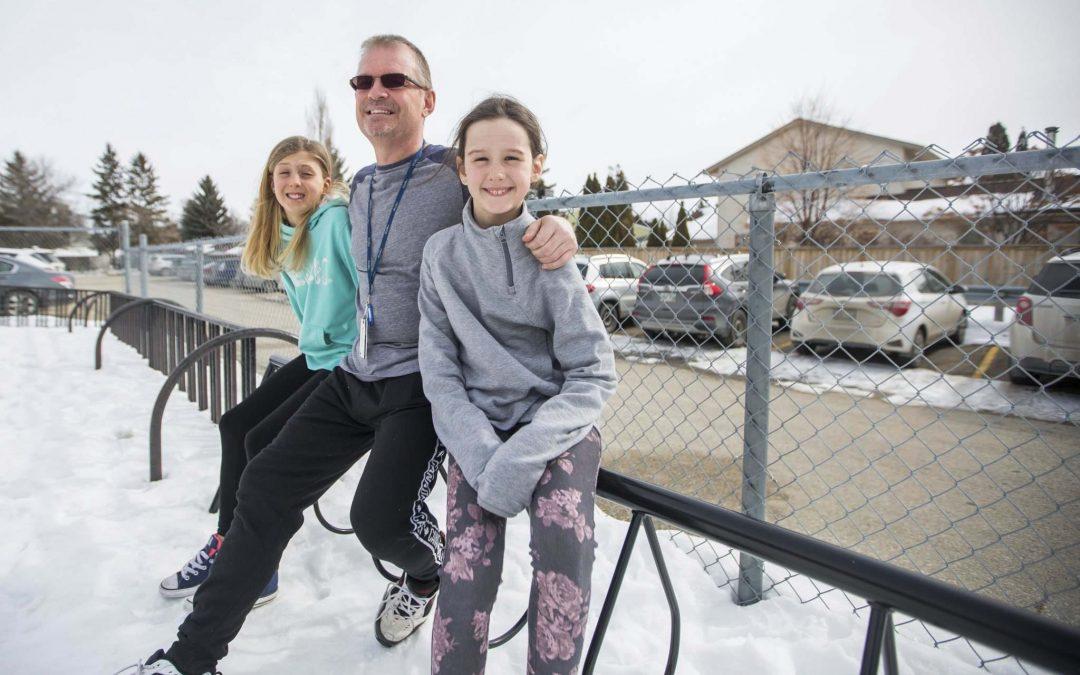 Awarding over 20 bike racks to Winnipeg Schools