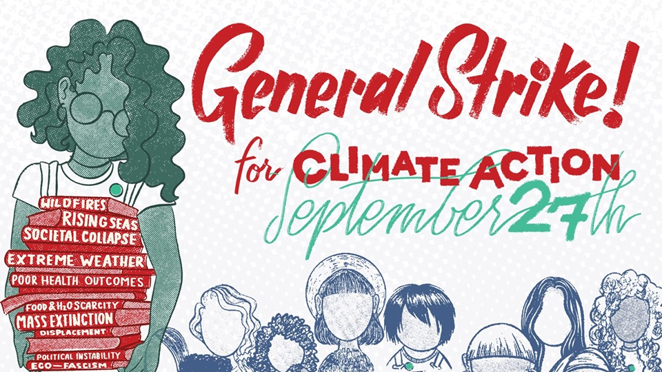 General Strike! for Climate Action September 27th Graphic